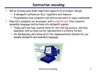 Instruction encoding