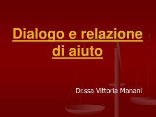Dialogo e relazione di aiuto