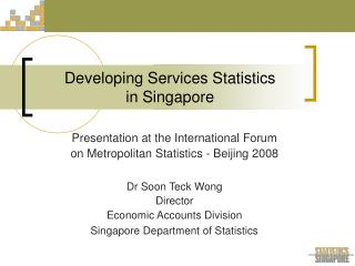 Developing Services Statistics  in Singapore