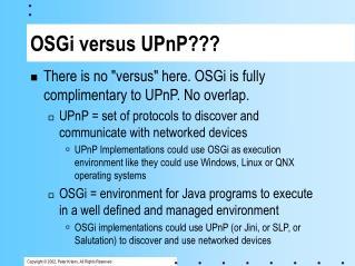 OSGi versus UPnP???