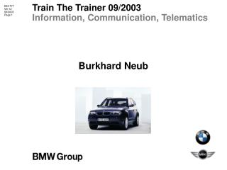 Train The Trainer 09/2003 Information, Communication, Telematics