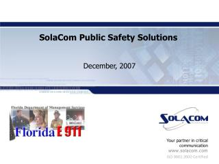 SolaCom Public Safety Solutions