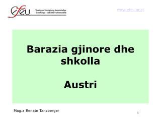 Barazia gjinore dhe shkolla Austri