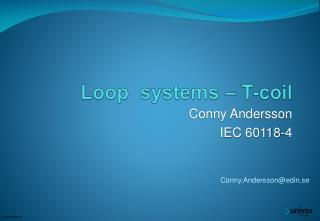 Loop  systems – T-coil