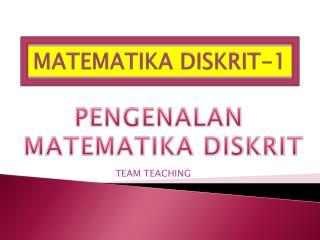MATEMATIKA DISKRIT-1