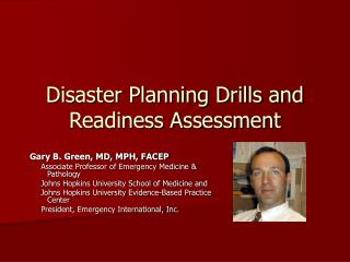Disaster Planning Drills and Readiness Assessment