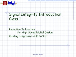 Signal Integrity Introduction Class 1