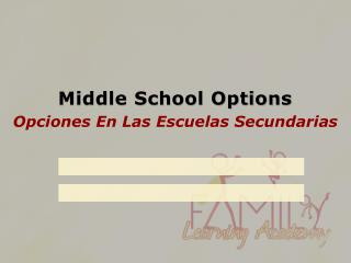 Middle School Options