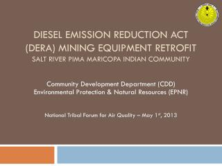 Community Development Department (CDD) Environmental Protection & Natural Resources (EPNR)