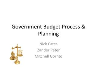Government Budget Process & Planning