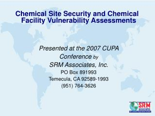 Presented at the 2007 CUPA  Conference  by SRM Associates, Inc. PO Box 891993
