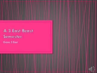A 3 East Beast Semester
