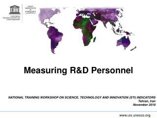 Measuring R&D Personnel