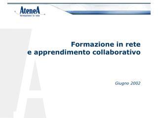 Formazione in rete  e apprendimento collaborativo