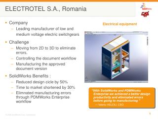 ELECTROTEL S.A., Romania
