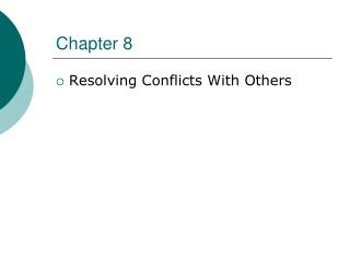 Resolving Conflicts With Others