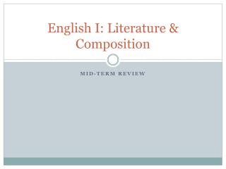 English I: Literature & Composition