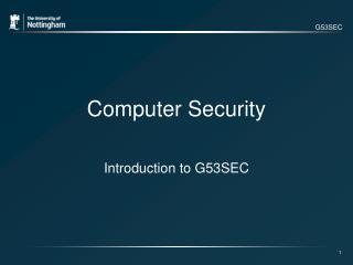 G53SEC