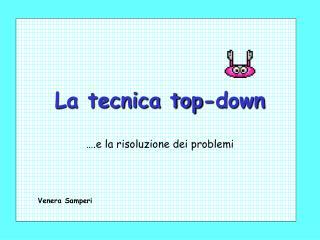 La tecnica top-down