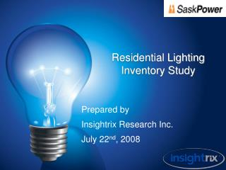 Residential Lighting Inventory Study