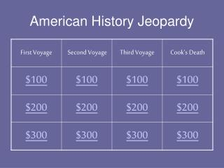 American History Jeopardy