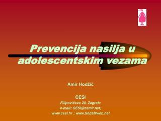 Prevencija nasilja u adolescentskim vezama