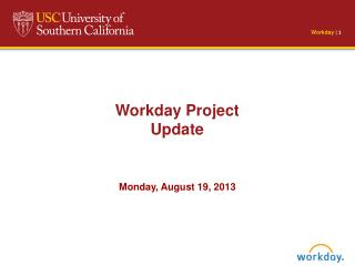 Workday Project Update