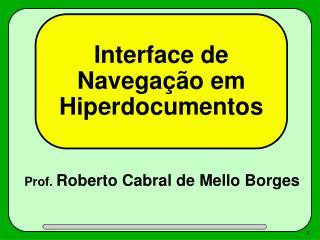 Interface de Navegação em Hiperdocumentos