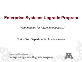 Enterprise Systems Upgrade Program