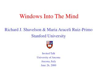 Windows Into The Mind