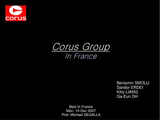 Corus Group In France