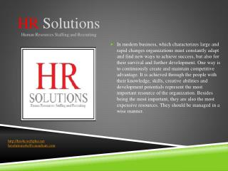 HR Solutions Human Resources Staffing and Recruiting