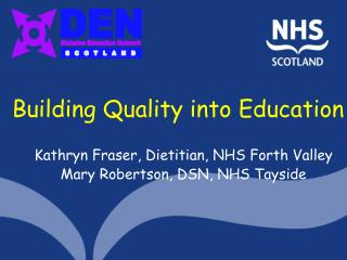 Building Quality into Education