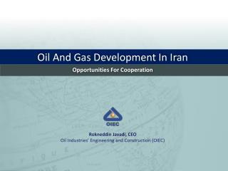 Oil And Gas Development In Iran