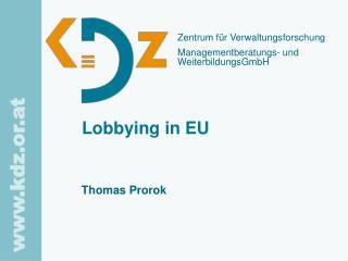 Lobbying in EU