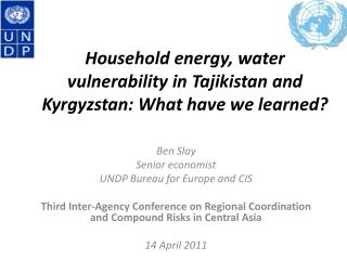 Household energy, water vulnerability in  Tajikistan and Kyrgyzstan : What have we learned?