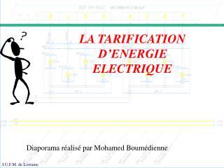 LA TARIFICATION D�ENERGIE ELECTRIQUE