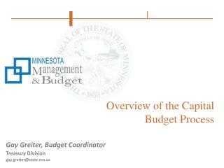 Overview of the Capital Budget Process