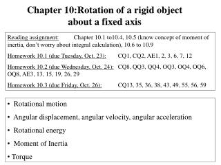 Rotational  motion   Angular displacement, angular velocity, angular acceleration