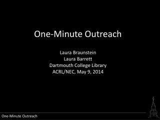 One-Minute Outreach