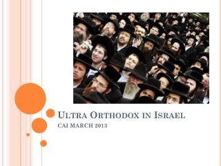 Ultra Orthodox in Israel