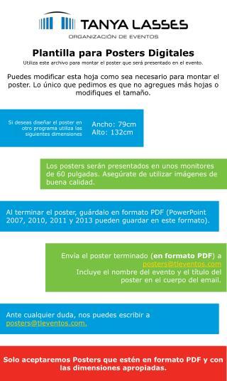 Plantilla para Posters Digitales