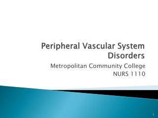 Peripheral Vascular System Disorders