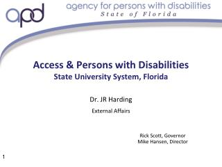 Access & Persons with Disabilities State University System, Florida