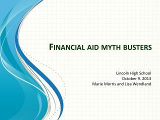 Financial aid myth busters