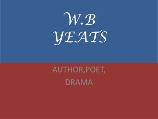 W.B YEATS