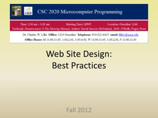 Web Site Design: Best Practices