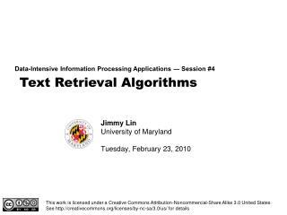 Text Retrieval Algorithms