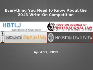 Everything You Need to Know About the 2013 Write-On Competition