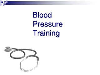 Blood Pressure Training